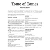 Tome of Tomes: Volume Four