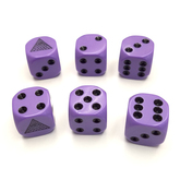Eye-in-Pyramid Dice Set (Purple 19mm)