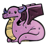 Deadly Doodles Dragon Pin