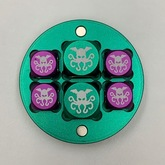 Metal Cthulhu D6 Dice Set (Green and Purple)