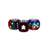 Rainbow Meeple d6 Dice Set
