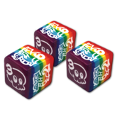 Deadly Doodles Rainbow d6 Dice Set
