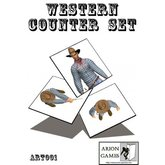Paper Miniatures: Western Counter Set