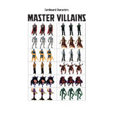 Cardboard Characters - Master Villains
