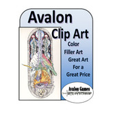 Avalon Clip Art, Color Filler Art