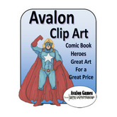 Avalon Clip Art, Comic Book Heroes
