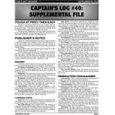 Captain's Log #40 Supplement