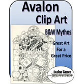 Avalon Clip Art, Black and White Mythos