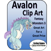 Avalon Clip Art Sets, Monsters Set 3