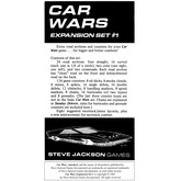 Car Wars Expansion Set 1 - Road Sections and Counters