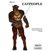 Paper Miniatures: Catpeople Set